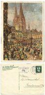 Germany 1939 Kölner Karneval Postal Card Köln To Bacharach - Postwaardestukken