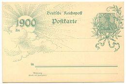 Germany 1900 Mint 5pf. Germania - 1900 Postal Card - Entiers Postaux