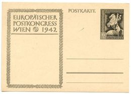 Germany 1942 Mint 6pf. + 4pf. Europäischer Postkongress Wien Postal Card - Entiers Postaux