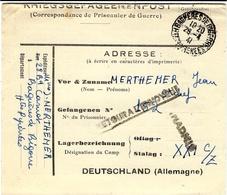 Avril 1941- Formulaire  Français Envoyé Au STALAG XXI C / Z à Graertz ( Pologne )  INADMIS  + RETOUR A L'ENVOYEUR - Marcophilie (Lettres)