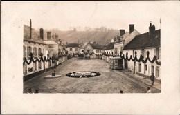 ! Fotokarte Photo, 02 BRUYERES Et MONTBERAULT, Marktplatz, Frankreich, 1. Weltkrieg, 1914-1918, Echtfoto - Autres Communes