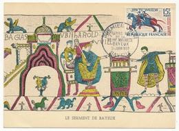 FRANCE - Carte Maximum - 15F Tapisserie De La Reine Mathilde - BAYEUX - Premier Jour 21 Juin 1958 - Cartes-Maximum