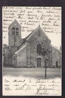 CPA 91 - LARDY - L'Eglise - TB PLAN EDIFICE RELIGIEUX CENTRE VILLAGE + Très Jolie Oblitériton Verso 1904 - Lardy