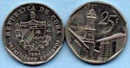 (r65)  CUBA 25 CENTAVOS  1994 - Cuba