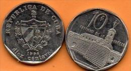 (r65)  CUBA 10 CENTAVOS  1994 - Cuba