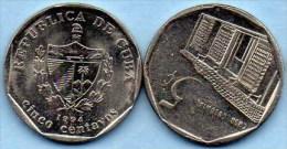(r65)    CUBA 5 CENTAVOS  1994 - Cuba