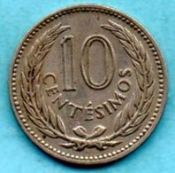 (r65)  URUGUAY 10 CENTESIMOS 1953  Km#35 - Uruguay
