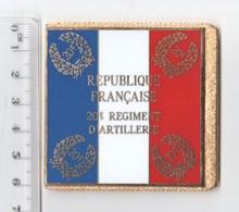DRAPEAU 20° RA REGIMENT D' ARTILLERIE En Métal Doré - Drapeaux