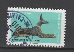 """FRANCE / 2018 / Y&T N° AA 1521 : """"Les Chiens Dans L'art"""" (Antiquités Egyptiennes) - 2ème Choix (pli) - Du 23/05/2018 - Frankreich"""