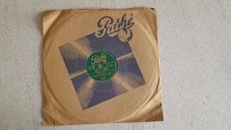 DISQUE 78T   PATHE LA ROSE ROUGE PAR ANDRE BAUGE ET J'AI TOUJOURS CRU QU'UN BAISER - 78 Rpm - Gramophone Records
