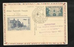 Carte AEF Tchad Pasteurs Foulbé La France D'Outre Mer Dans La Guerre  Paris 20/10/1945  N°741 + Vignette Et Cachet TB - ....-1949