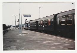 Photo Train Wagon Train SNCF De Voyageurs Traction Diesel En Gare De Montargis Avant L'électrification - Trains