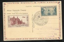 Carte AEF Tchad Femmes Sara La France D'Outre Mer Dans La Guerre  Paris Le 20/10/1945  N°741 + Vignette Et Cachet TB - ....-1949