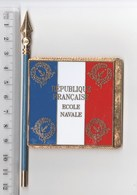 DRAPEAU FANION ECOLE NAVALE , En Métal - Bandiere