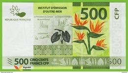 Voyo FRENCH POLYNESIA 500 Francs ND/2014 P5  B105a Surfix F4 UNC Flowers - Papeete (Polynésie Française 1914-1985)