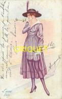 Illustrateur Sager, L'envie, Jeune Femme Devant Une Vitrine De Bijouterie, Carte Pas Très Courante - Sager, Xavier