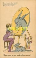 Illustrateur Sager, Entre Vous Et Un âne..., Femme Artiste Peintre, Carte Pas Courante - Sager, Xavier