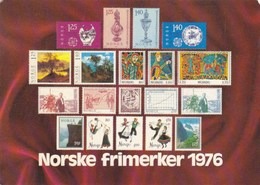 Norway Stamps Postcard 1976 - Norvège
