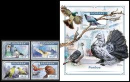 MOZAMBIQUE 2018 MNH** Pigeons Dove Tauben 4v+S/S - OFFICIAL ISSUE - DH1818 - Tauben & Flughühner