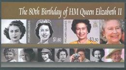 PITCAIRN ISLANDS - 2007 - MNH/** - 80th ANNIVERSARY ELIZABETH II - Yv BLOC 37  - Lot 17203 - Pitcairn
