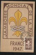 Carte Postale R.Barthélémy Paris  Maximum à Moisson Jamboree De La Paix Le 09/08/1947  Le N° 787  TB Soldé  ! ! ! - ....-1949