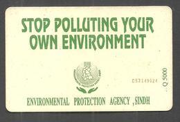 PAKISTAN USED CHIP PHONECARD TELECARD 30 UNITS STOP POLLUTION - Pakistan