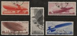 Russie 1934 N°Y.T. : PA. 33 à 37 Obl. - 1923-1991 URSS