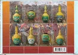 Thailand Cover 2003-2011 Flowers,2014 Sheet Cultural Heritage,Postally USED - Thailand