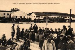 ALGERIE - VISISTE DU GOUVERNEUR GENERAL DE L'ALGERIE MR PIERRE BORDES AUX LIEUX DU SINISTRE - Other Cities