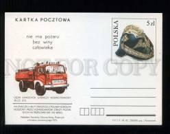 276290 POLAND 1982 Year Fire Engine Jelcz 315 Postal Card - Stamped Stationery