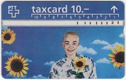 SWITZERLAND C-032 Hologram PTT - People, Woman, Plant, Sunflower - 506C - Used - Switzerland