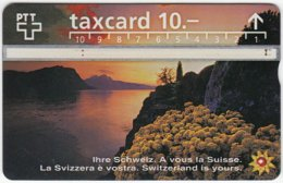 SWITZERLAND C-040 Hologram PTT - Landscape, Lake, Sunset - 605E - Used - Switzerland