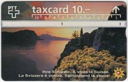 SWITZERLAND C-041 Hologram PTT - Landscape, Lake, Sunset - 605D - Used - Switzerland