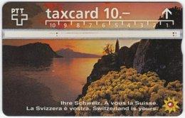 SWITZERLAND C-044 Hologram PTT - Landscape, Lake, Sunset - 604G - Used - Switzerland