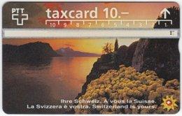 SWITZERLAND C-048 Hologram PTT - Landscape, Lake, Sunset - 603D - Used - Switzerland
