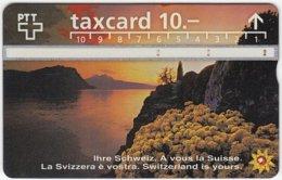 SWITZERLAND C-050 Hologram PTT - Landscape, Lake, Sunset - 603G - Used - Switzerland