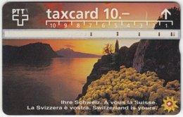 SWITZERLAND C-051 Hologram PTT - Landscape, Lake, Sunset - 603F - Used - Switzerland