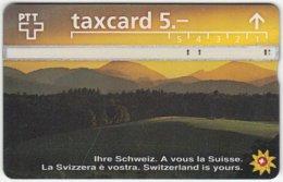SWITZERLAND C-053 Hologram PTT - Landscape, Mountains, Sunset - 603H - Used - Switzerland