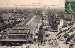 V8463 Cpa 75 Tout Paris -  Panorama , Gare De Vincennes Et Gare De Lyon - Arrondissement: 12