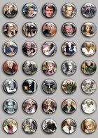 Johnny Hallyday Music Fan ART BADGE BUTTON PIN SET (1inch/25mm Diameter) 35 DIFF 6 - Music