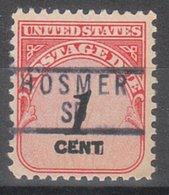 USA Precancel Vorausentwertung Preo, Locals South Dakota, Hosmer 837 - Vereinigte Staaten
