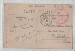 Nicolas 83è RAL Cantine Gare De Gien Croix Rouge Française 1918 - Militaria