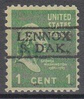 USA Precancel Vorausentwertung Preo, Locals South Dakota, Lenox 728 - Vereinigte Staaten