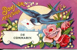 N°1551 A -cpa Bonjour Affectueux De Commarin - Other Municipalities