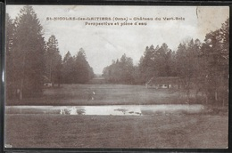CPA 61 - Saint-Nicolas-des-Laitiers, Château Du Vert-Bois - Perspective Et Pièce D'eau - Frankreich