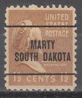 USA Precancel Vorausentwertung Preo, Locals South Dakota, Marty 272 - Vereinigte Staaten