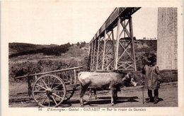 15 L'Auvergne - Cantal - GARABIT - Sur La Route De Garabit - Attelage - France