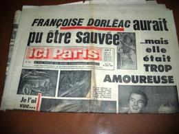 ICI PARIS Françoise DORLEAC JAYNE MANSFIELD POLNAREFF DALIDA N° 1149 De 1967 - People