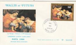 Wallis Et Futuna FDC  1980 Yvert  PA 107 - Noël - Tableau De Lotto - Art Peinture - FDC