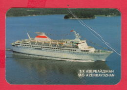 K1833 / 1976 SHIP M/S AZERBAYDZHAN ,  Calendar Calendrier Kalender RUSSIA RUSSIE - Calendars
